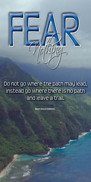 Church Banner featuring Napali Coast on Kauai with Motivational Theme