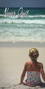 Church Banner featuring Young Girl on Beach with Motivational Theme