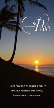 Church Banner featuring Tropical Sunset with Peace Theme
