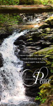 Church Banner featuring Rushing Stream with Peace Theme