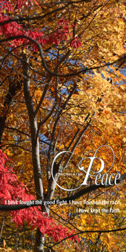 Church Banner featuring Fall Leaves with Peace Theme
