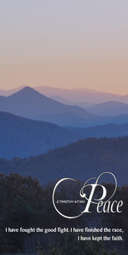 Church Banner featuring Smoky Mountains with Peace Theme