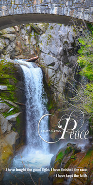Church Banner featuring Waterfall and Bridge with Peace Theme