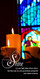 Church Banner featuring Candles and Stained Glass with Let Your Light Shine