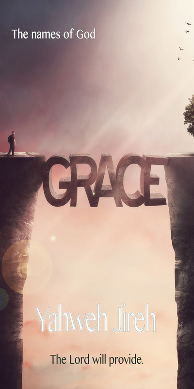Church Banner featuring Grace and Bridges with The Lord Will Provide Theme