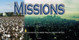 Church Banner featuring Fields and City with Missions Theme