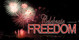 Church Banner featuring Fireworks with Celebrate Freedom Theme