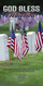 Church Banner featuring Grave Markers with GOD Bless the USA Theme