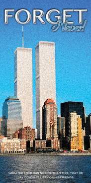 Church Banner featuring World Trade Center with Never Forget Theme