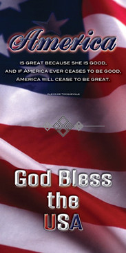 Church Banner featuring Flag with GOD Bless the USA Theme
