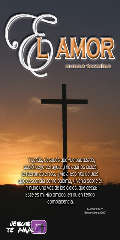Spanish Church Banner featuring Cross and Love Theme