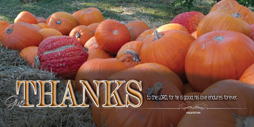 Church Banner featuring Pumpkin Pile with Thanksgiving Theme