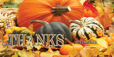 Church Banner featuring Fall Harvest with Thanksgiving Theme