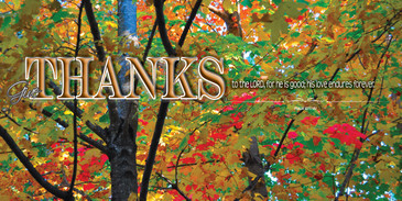 Church Banner featuring Fall Foliage with Thanksgiving Theme