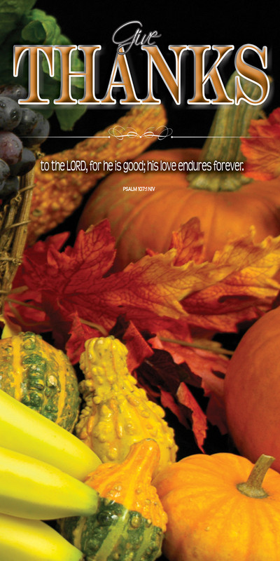 Church Banner featuring Bountiful Harvest with Thanksgiving Theme