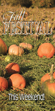 Church Banner featuring Pumpkin Field with Fall Festival Theme