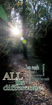 Church Banner featuring Sunlit Trail with Two Roads Theme