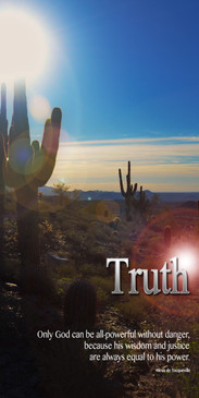 Church Banner featuring Saguaro Cactus with Truth Theme