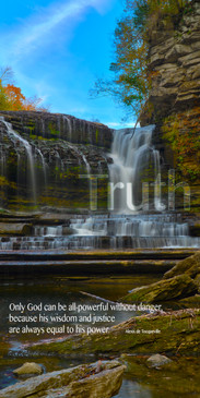 Church Banner featuring Waterfall and Blue Skies with Truth Theme