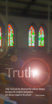 Church Banner featuring Stained Glass with Truth Theme