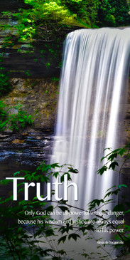 Cascading Waterfall featuring Truth Themed Church Banner