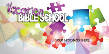 Puzzle Theme for Vacation Bible School Church Banner