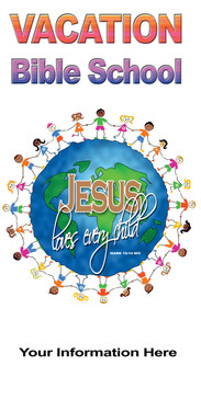 Church Banner with World Theme for VBS