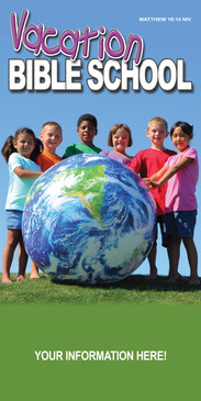 Church Banner with Kids/Earth and VBS Theme