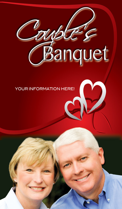 Church Banner featuring Couple and Banquet Theme