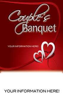 Church Banner featuring Two Hearts and Couples Banquet Theme