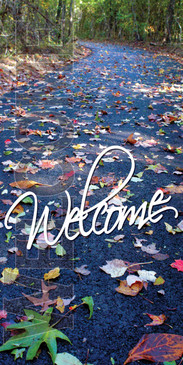 Church Banner featuring Fall Leaves and Welcome Theme