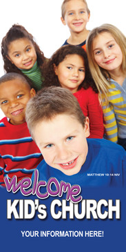 Church Banner featuring Children for Kid's Worship Banner