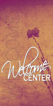 Church Banner featuring Earth Tone Colors for Welcome Banner
