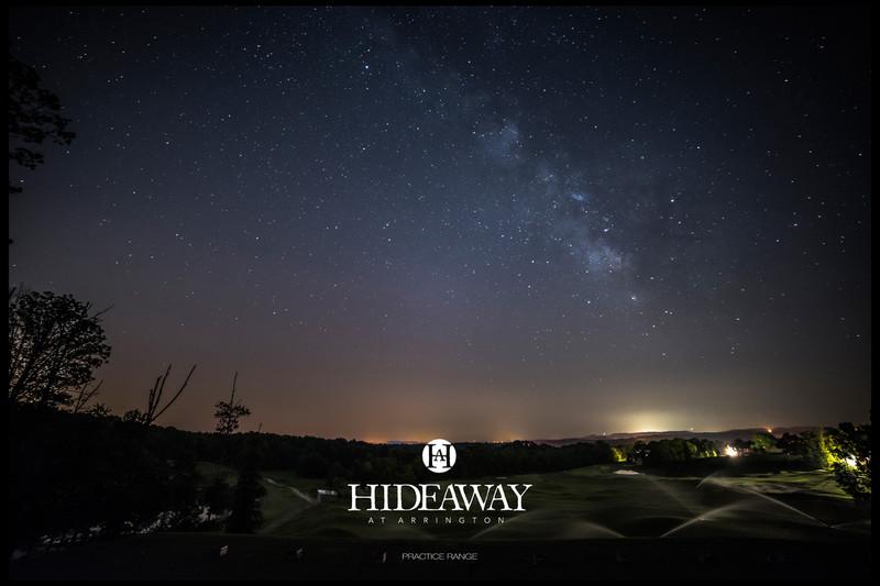 Hideaway at Arrington Practice Range & the Milky Way