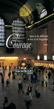 Church Banner featuring Grand Central Station/People with Courage Theme