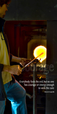 Church Banner featuring Glass Blower/Fire with Courage Theme