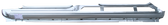 2005-2010 Mazda5 rocker panel, driver's side