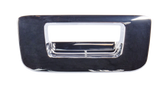 2007-2013 Chevrolet and GMC pickup tailgate handle bezel, chrome, w/o keyhole, or camera