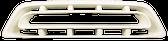 1957 Chevrolet pickup grille, milk white