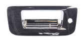 2007-2013 Chevrolet and GMC pickup tailgate handle bezel, chrome, with key hole, without camera
