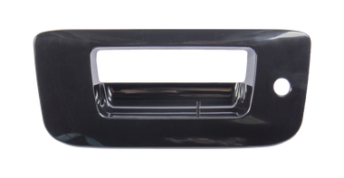 2007-2013 Chevrolet and GMC pickup tailgate handle bezel,paint to match, with keyhole, without camera