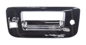 2007-2013 Chevrolet and GMC pickup tailgate handle bezel, chrome, with key hole, with camera
