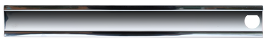 Passenger's side center grille molding for '85-'87 Chevrolet pickups with dual headlights