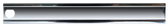 Driver's side center grille molding for '85-'87 Chevrolet pickups with dual headlights