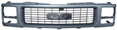 '94-'98 GMC SINGLE HEADLIGHT GRILLE SILVER AND DARK GRAY