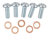 55-59 SENDING UNIT SCREWS WITH CRUSH WASHERS