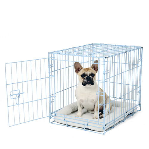 blue wire dog crate