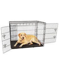 large double door dog crate