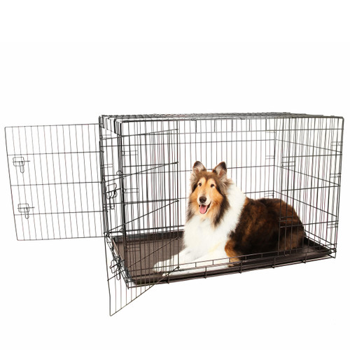 extra large double door dog crate
