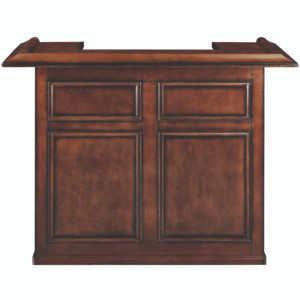 """5' Dry bar with removable shelf for fridge pocket available in black, chestnut, cappuccino and english tudor stains. 26""""x60""""x44"""""""